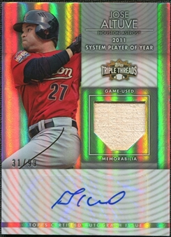 2012 Topps Triple Threads Unity Relic Autographs #UAR111 Jose Altuve 31/99