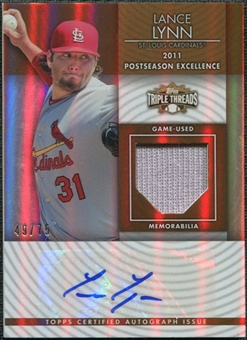 2012 Topps Triple Threads Unity Relic Autographs Sepia #UAR67 Lance Lynn 49/75