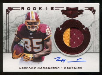 2011  Panini Plates and Patches #226 Leonard Hankerson Jersey Autograph /499