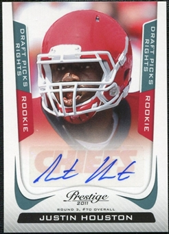 2011 Panini Prestige Draft Picks Rights Autographs #257 Justin Houston /99