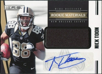 2012 Panini Rookies and Stars #242 Nick Toon Jersey Autograph /499