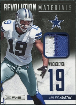 2012 Panini Rookies and Stars Revolution Materials Prime #34 Miles Austin /49