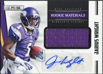 2012 Panini Rookies and Stars #250 Jarius Wright Jersey Autograph /499