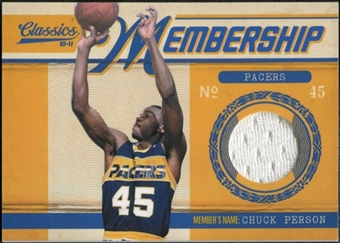 2010/11 Panini Classics Membership Materials #10 Chuck Person /499