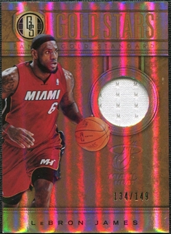2011/12 Panini Gold Standard Gold Stars Materials #5 LeBron James /149