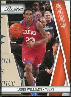 2010/11 Panini Prestige Bonus Shots Orange #91 Louis Williams /499