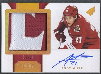 2011/12 Dominion #169 Andy Miele Rookie Horizontal Patch Auto #12/21