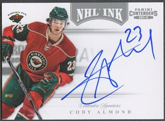 2011/12 Panini Contenders #27 Cody Almond NHL Ink Auto