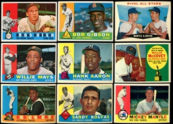 1960 Topps Baseball Near Complete Set 570/572 (EX-MT)