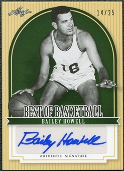 2011/12 Leaf Best of Basketball Autographs Green #BH1 Bailey Howell /25