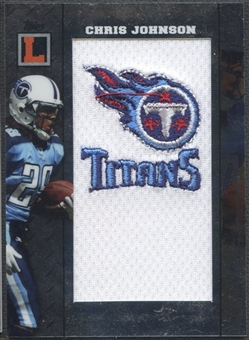 2008 Topps Letterman #TLPCJ Chris Johnson Team Logos Patch #17/25