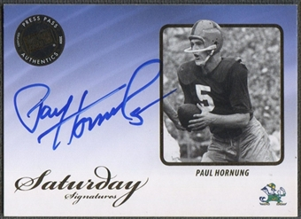 2009 Press Pass Legends #SSPH Paul Hornung Saturday Signatures Auto
