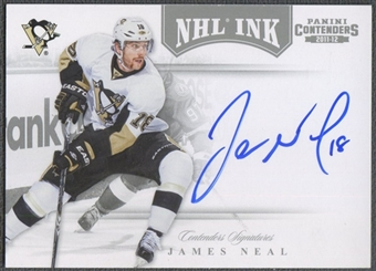 2011/12 Panini Contenders #53 James Neal NHL Ink Auto