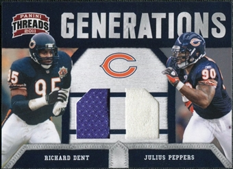 2011 Panini Threads Generations Materials #5 Richard Dent/Julius Peppers 206/299