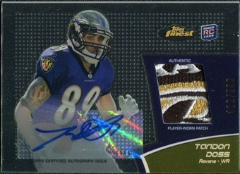 2011 Topps Finest Rookie Patch Autographs #RAPTD Tandon Doss 412/599