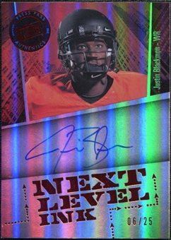 2012 Press Pass Fanfare Next Level Ink Red #JB Justin Blackmon Autograph 6/25
