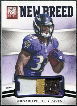 2012 Panini Elite New Breed Jerseys Prime #28 Bernard Pierce 27/49