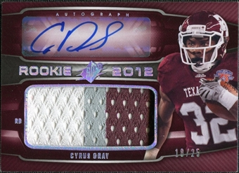 2012 Upper Deck SPx Rookie Patch Autographs Spectrum #70 Cyrus Gray 18/25