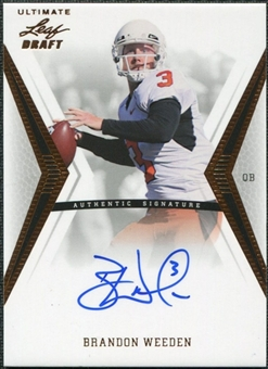 2012 Leaf Ultimate Draft #BW1 Brandon Weeden Autograph