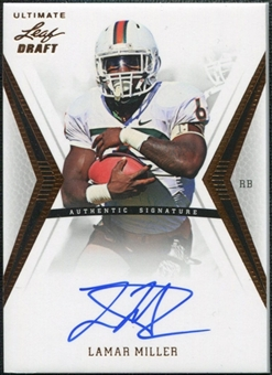 2012 Leaf Ultimate Draft #LM1 Lamar Miller Autograph