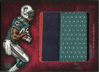 2012 Topps Inception Rookie Relics Jumbo Patch Red #JRLM Lamar Miller 8/10