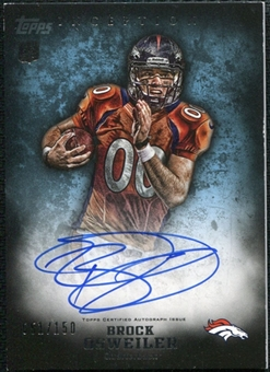 2012 Topps Inception Blue #111 Brock Osweiler Autograph 51/150