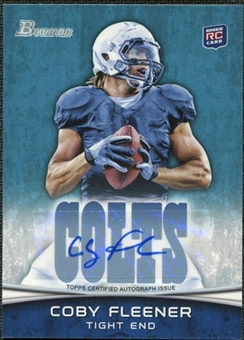 2012 Topps Bowman Rookie Autographs #113 Coby Fleener