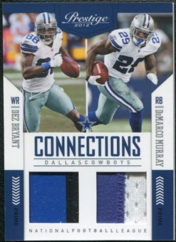 2012 Panini Prestige Connections Materials Prime #5 Dez Bryant/DeMarco Murray 1/49