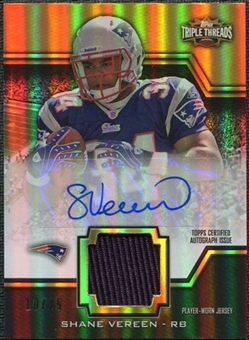2011 Topps Triple Threads Autographed Unity Relics Gold #TTUAR57 Shane Vereen 10/25