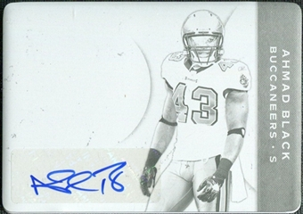 2011 Plates and Patches Printing Plates Black #104 Ahmad Black Autograph 1/1