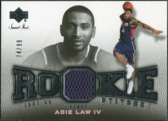 2007/08 Upper Deck Sweet Shot Rookie Stitches #AL Acie Law /99