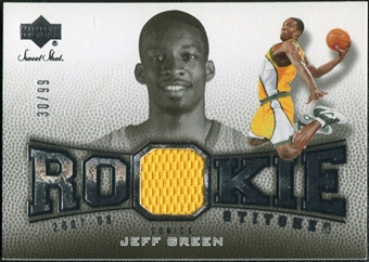 2007/08 Upper Deck Sweet Shot Rookie Stitches #JG Jeff Green 30/99