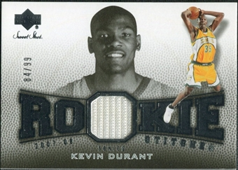 2007/08 Upper Deck Sweet Shot Rookie Stitches #KD Kevin Durant RC 84/99