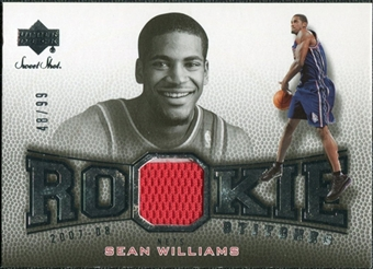 2007/08 Upper Deck Sweet Shot Rookie Stitches #SW Sean Williams /99