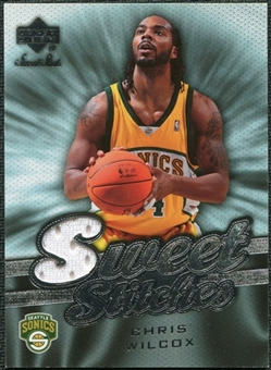 2007/08 Upper Deck Sweet Shot Sweet Stitches #CW Chris Wilcox