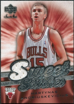 2007/08 Upper Deck Sweet Shot Sweet Stitches #MA Martynas Andriuskevicius