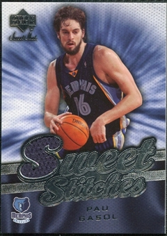 2007/08 Upper Deck Sweet Shot Sweet Stitches #PG Pau Gasol