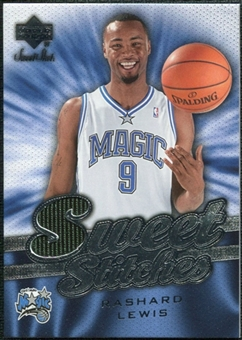 2007/08 Upper Deck Sweet Shot Sweet Stitches #RL Rashard Lewis