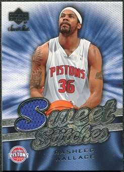 2007/08 Upper Deck Sweet Shot Sweet Stitches #RW Rasheed Wallace