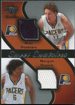 2007/08 Upper Deck Sweet Shot Sweet Swatches Dual #DD Mike Dunleavy/Marquis Daniels