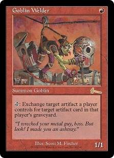 Magic the Gathering Urza's Legacy Single Goblin Welder - NEAR MINT (NM)