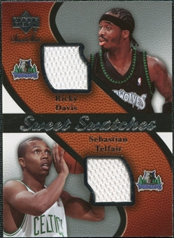 2007/08 Upper Deck Sweet Shot Sweet Swatches Dual #DT Ricky Davis Sebastian Telfair