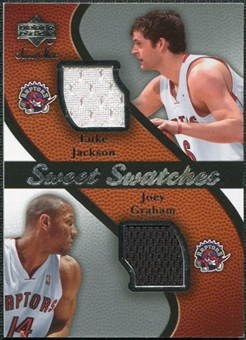 2007/08 Upper Deck Sweet Shot Sweet Swatches Dual #JG Luke Jackson Joey Graham