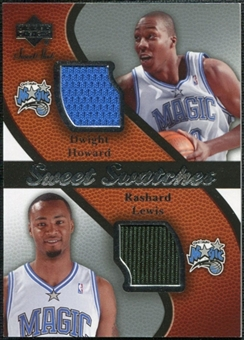 2007/08 Upper Deck Sweet Shot Sweet Swatches Dual #LH Dwight Howard/Rashard Lewis