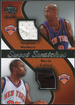 2007/08 Upper Deck Sweet Shot Sweet Swatches Dual #MC Stephon Marbury/Mardy Collins