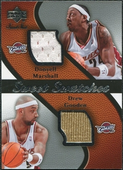 2007/08 Upper Deck Sweet Shot Sweet Swatches Dual #MG Donyell Marshall Drew Gooden