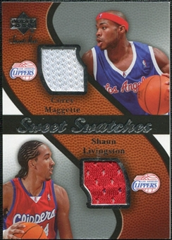 2007/08 Upper Deck Sweet Shot Sweet Swatches Dual #ML Corey Maggette Shaun Livingston
