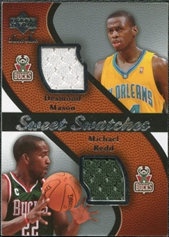 2007/08 Upper Deck Sweet Shot Sweet Swatches Dual #MR Desmond Mason/Michael Redd