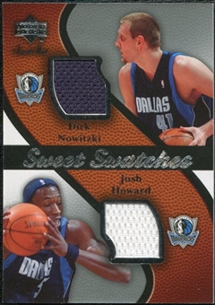2007/08 Upper Deck Sweet Shot Sweet Swatches Dual #NH Dirk Nowitzki Josh Howard