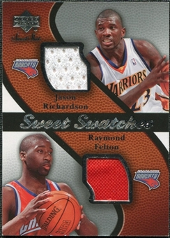 2007/08 Upper Deck Sweet Shot Sweet Swatches Dual #RF Jason Richardson/Raymond Felton
